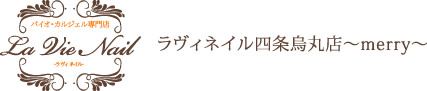 バイオ・カルジェル専門店【La Vie Nail -ラヴィネイル- 】ラヴィネイル四条烏丸店~merry~